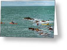 Rhoscolyn Rock Panorama Greeting Card