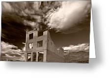 Rhyolite Nevada Ghost Town Greeting Card