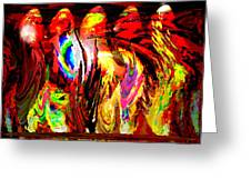 Rhythm Of The Dancing Fires Greeting Card