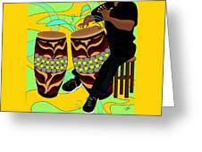 Rhythm Of The Drums Greeting Card