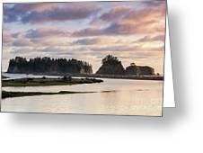 Rialto Beach Sunset On The Pacific Coast In Washington Greeting Card