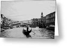 Rialto Bridge In Venice  Greeting Card