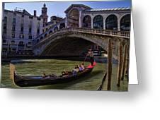 Rialto Bridge In Venice Italy Greeting Card
