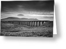 Ribblehead Viaduct Uk Greeting Card by Ian Barber