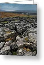 Ribblehead Viaduct, Yorkshire, England Greeting Card