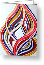 Ribbons Of Love-multicolour Greeting Card
