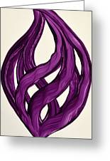 Ribbons Of Love-violet Greeting Card