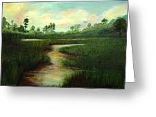 Rice Fields Of Brookgreen Gardens Greeting Card by Shirley Lawing