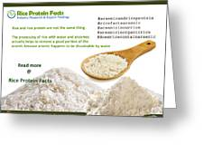 Rice Protein And Arsenic Greeting Card