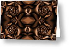 Rich Coffee Fractal Roses Greeting Card