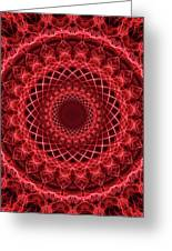 Rich Red Mandala Greeting Card
