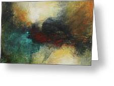 Rich Tones Abstract Painting Greeting Card