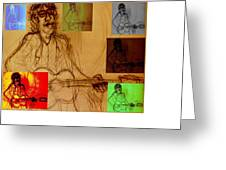 Richard Ashcroft The Great Maestro Greeting Card
