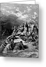 Richard I The Lionheart Delivering Jaffa 1877 Greeting Card