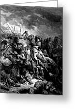 Richard I The Lionheart In Battle At Arsuf In 1191 1877 Greeting Card