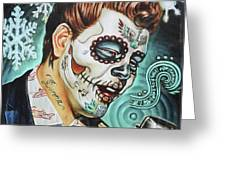 Richie Valens Day Of The Dead Greeting Card