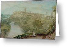 Richmond In Yorkshire Greeting Card by Joseph Mallord William Turner