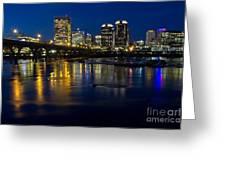 Richmond Night Skyline Greeting Card