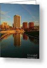 Richmond Skyline And Canal Greeting Card