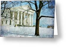 Richmond Virginia Capitol In Snow Greeting Card