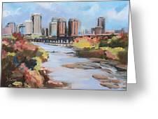 Richmond Virginia Skyline In Autumn Greeting Card
