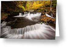 Ricketts Glen Autumn Flow Greeting Card