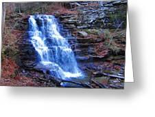 Ricketts Glen Waterfall 3941  Greeting Card