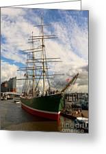Rickmer Rickmers A Three Masted Barque Greeting Card