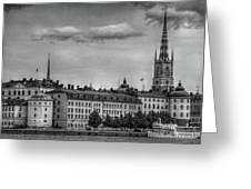 Riddarholmen Black And White Greeting Card