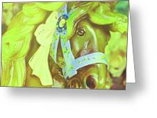 Ride Of Old Green Greeting Card