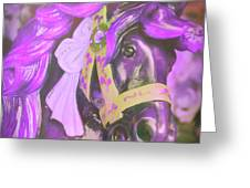 Ride Of Old Purples Greeting Card