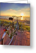 Ride Off Into The Sunset Greeting Card