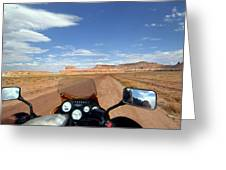 Ride To Little Wild Horse Slot Canyon Greeting Card