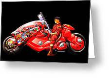 Rider On Red Motorbike Greeting Card