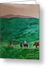 Riders In The Andes Greeting Card