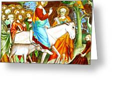 Rides Into Jerusalem Greeting Card