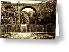 Ridge Avenue Falls Along The Wissahickon Creek Greeting Card