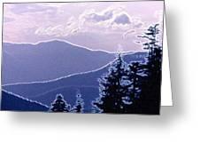 Ridge Layers 2 Pd2  Greeting Card