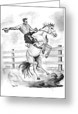 Riding A Flying Horse Greeting Card