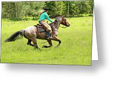 Riding Fast  Greeting Card