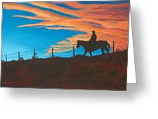 Riding Fence Greeting Card