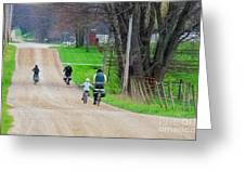 Riding Home Greeting Card