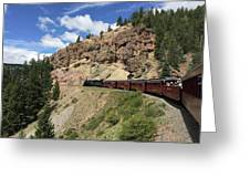 Riding The Cumbres And Toltec Greeting Card