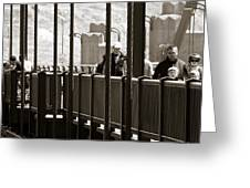 Riding The Golden Gate Greeting Card