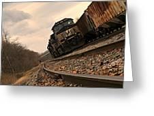 Riding The Rails I Greeting Card