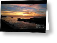Riding The Sunset Greeting Card