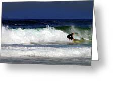 Riding The Waves At Asilomar State Beach Four Greeting Card