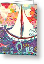 Riding The Waves In Bubbles Of Joy Greeting Card