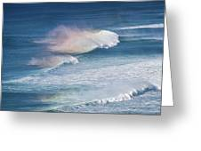Riding The Waves Greeting Card