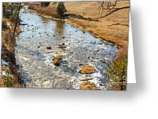 Riffles In The River Greeting Card